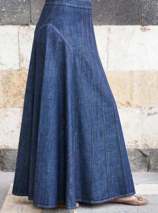 Alana Denim Maxi Skirt Winter Sale Women