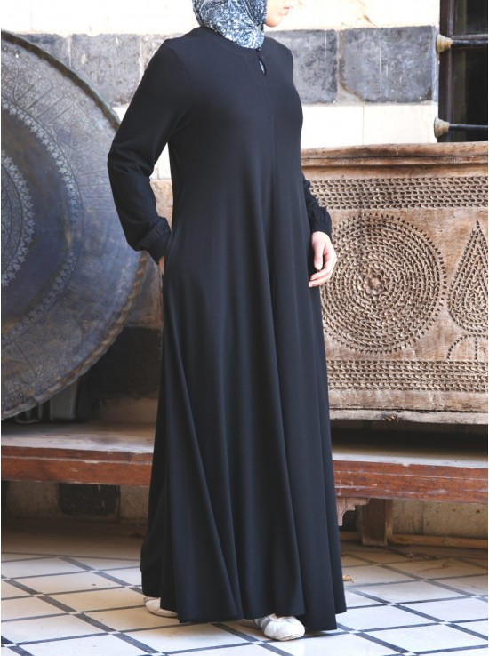 Flared Lightweight Jersey Abaya