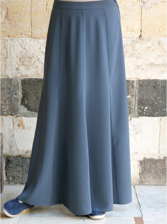 Paneled Work Skirt