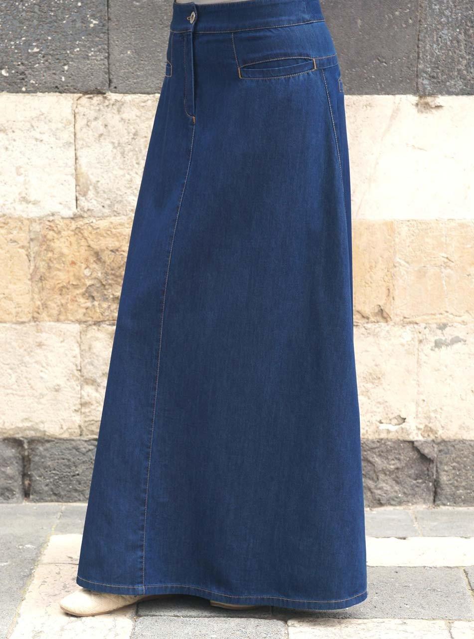 d9bd2df23b Denim Flattering Fit Maxi Skirt - Maxi Skirts - Women