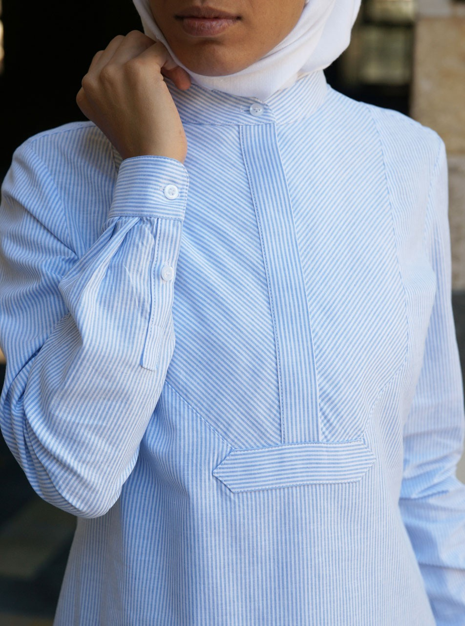 Linen and Cotton Striped Tunic