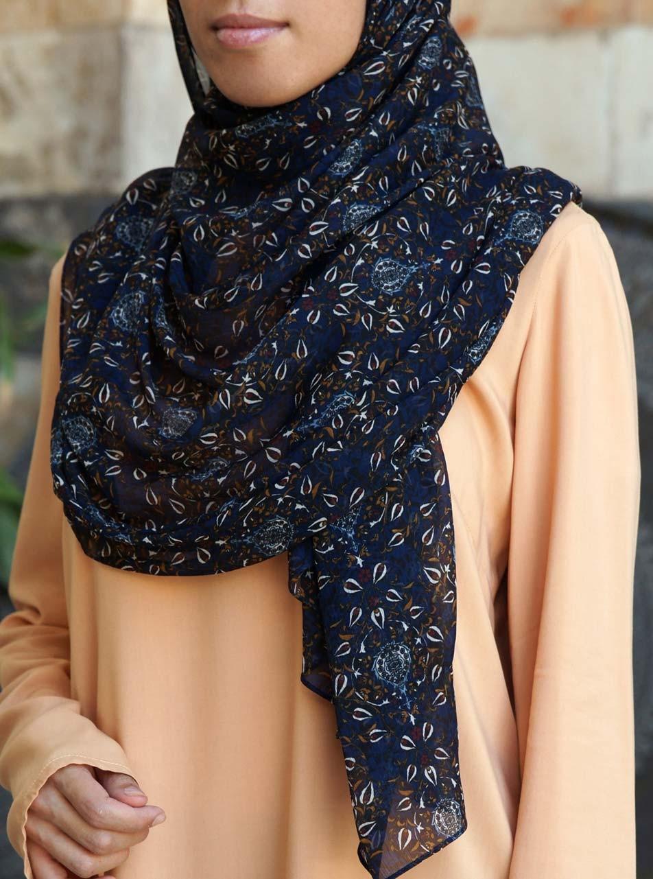 Midnight Magic Chiffon Hijab
