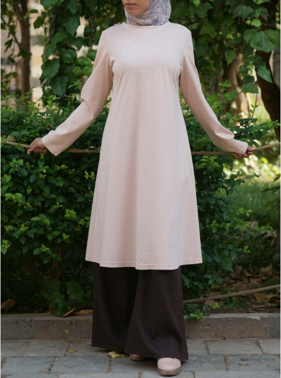 Cotton Flared Jersey Tunic