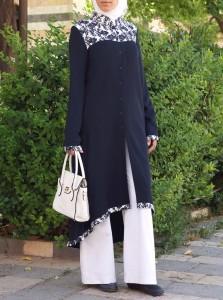 Atira Tunic with Printed Trim