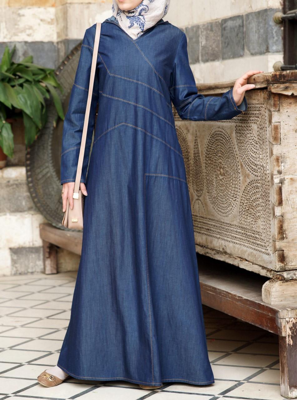 Denim Sportif Maxi Dress