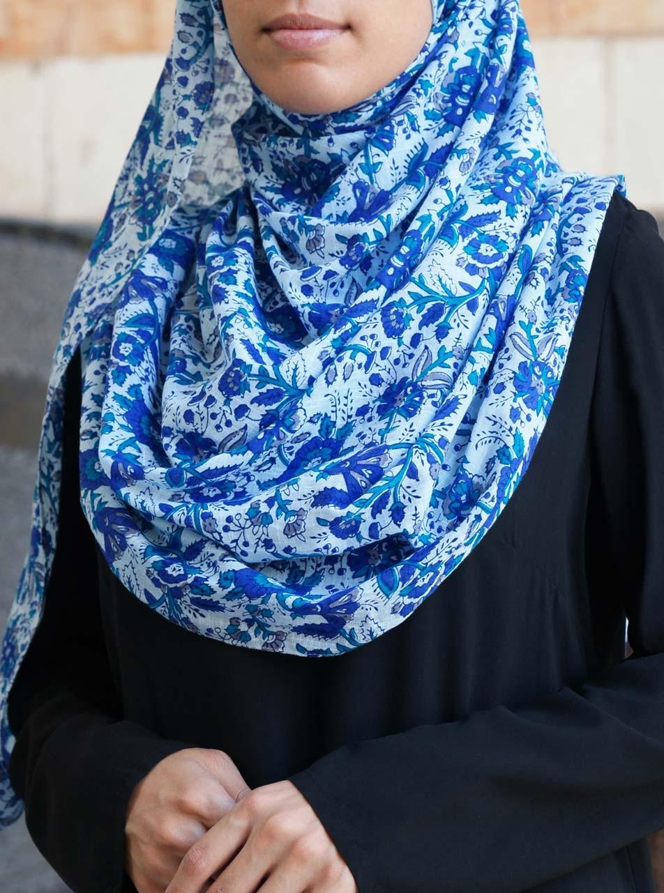 Wild Blue Yonder Cotton Hijab