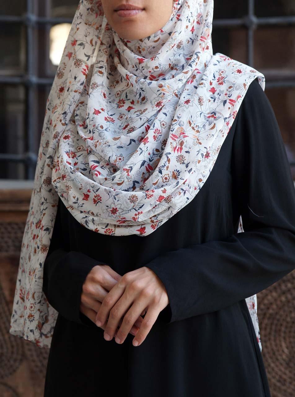 Dainty Floral Mix Georgette Hijab