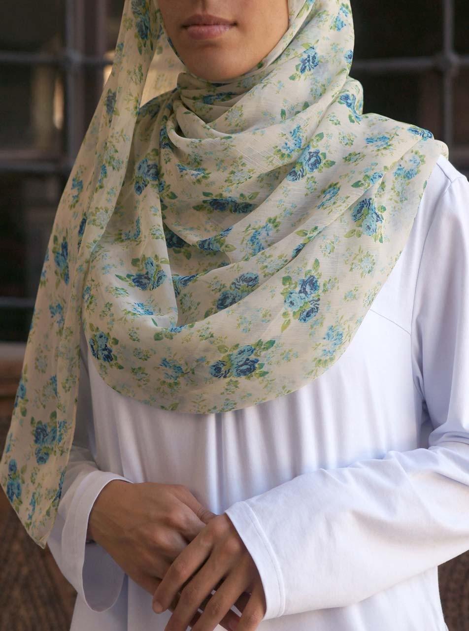 Peking Flowers Chiffon Hijab