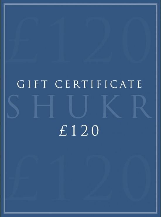 SHUKR £120 E-Gift Certificate