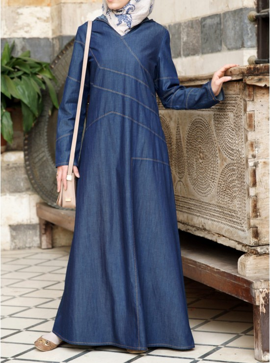 Denim Sportif Maxi Dress
