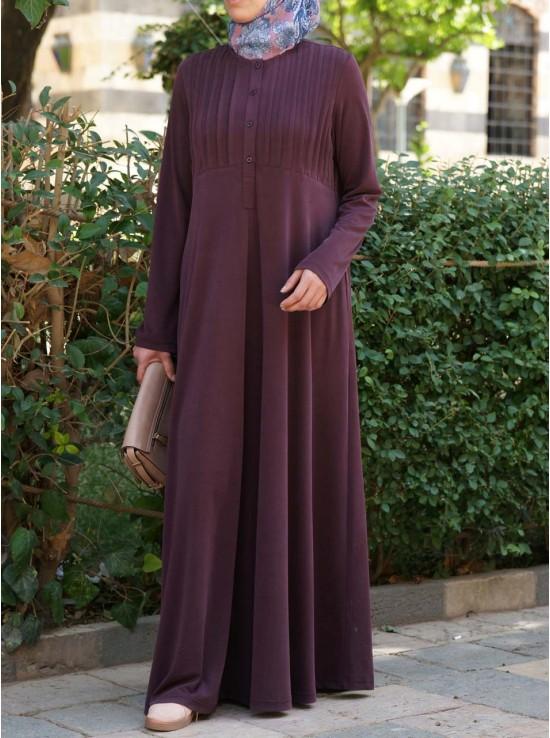 Modal Abaya with Tucks