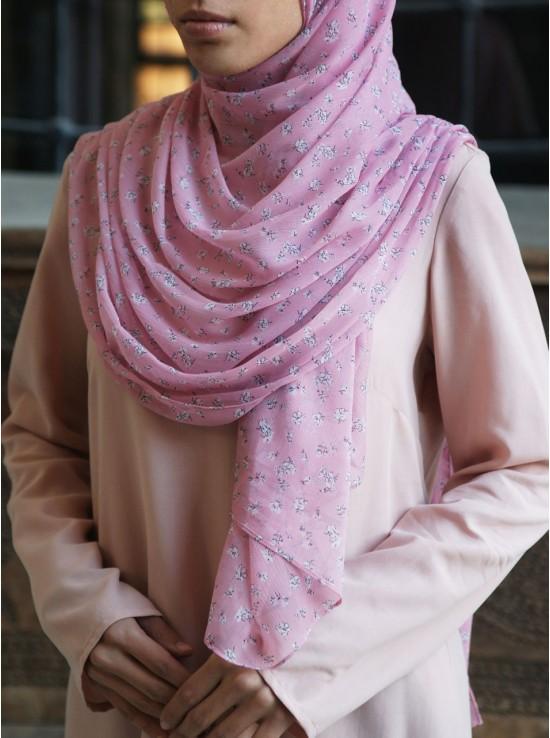 Ditsy Flowers Chiffon Hijab