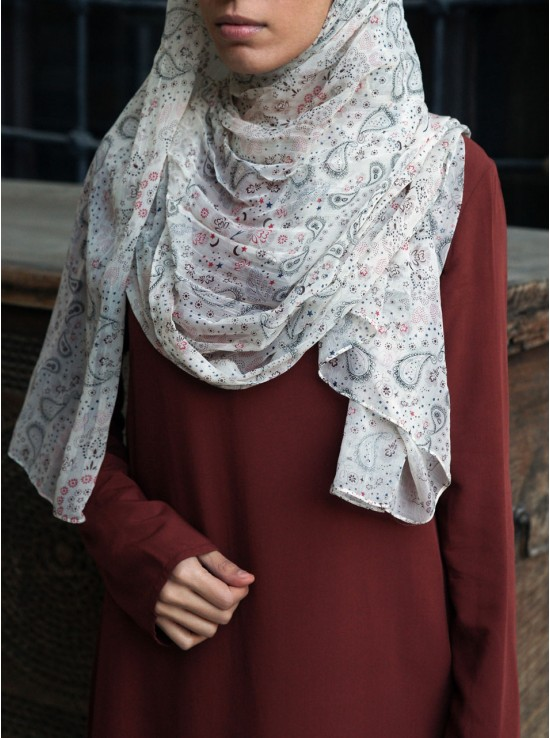 Dainty Paisley Viscose Voile Hijab