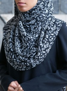 Flower Vine Chiffon Hijab