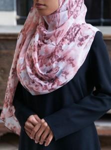 Abstract Pinks Chiffon Hijab