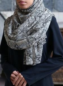 Rustic Flowers Chiffon Hijab