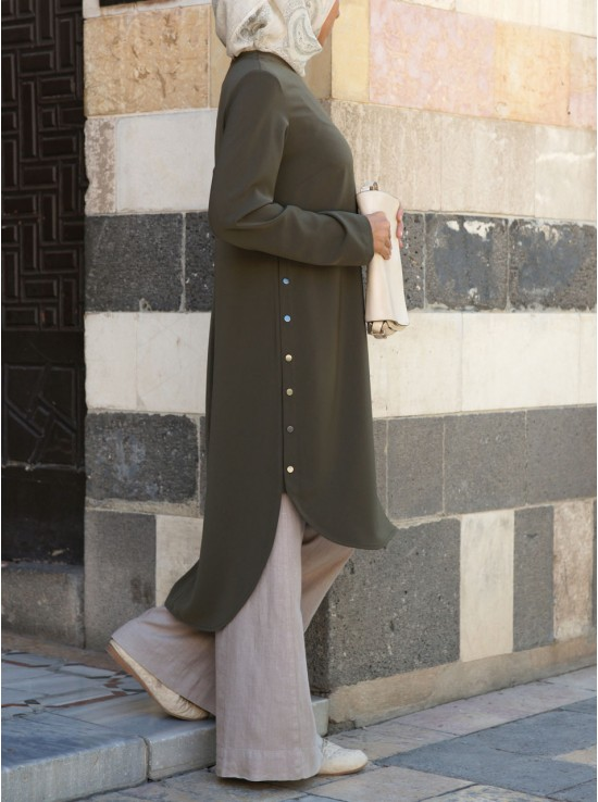 Side Snap Button Tunic