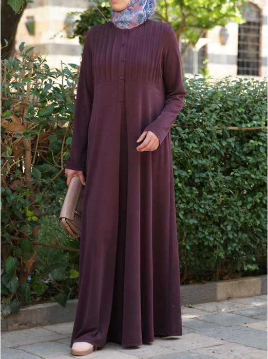 Modal Abaya with Tucks
