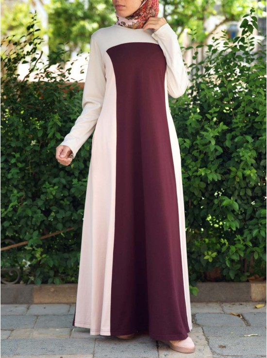 Tri Colorblock Maxi Dress