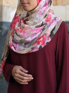 Flower Blossom Chiffon Hijab