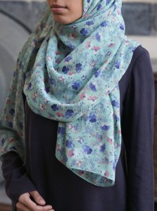 Forget Me Not Georgette Hijab