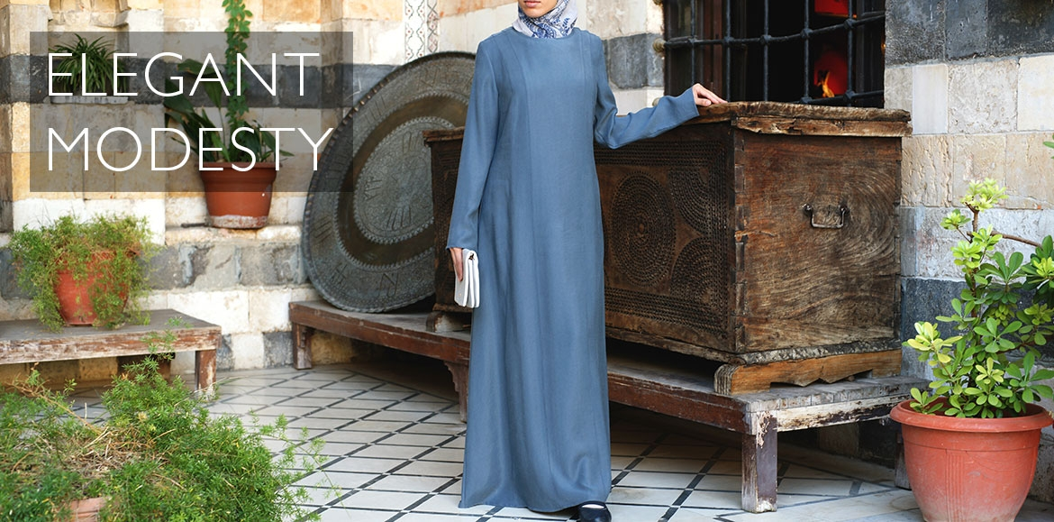 Modal Double Shoulder Seam Abaya