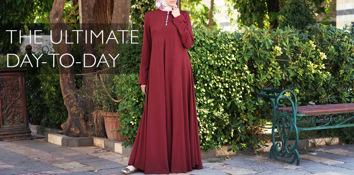 Mother of Pearl Flared Abaya