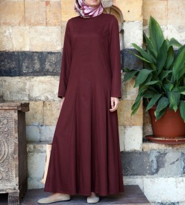 SHUKR- Flared Pleated Abaya