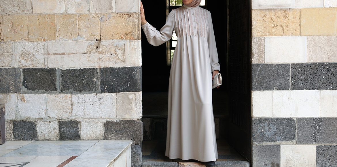 Embroidered and Pleated Abaya