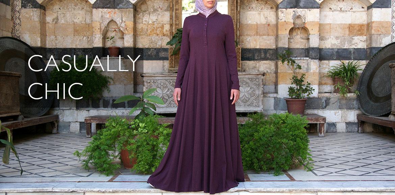 Shirtdress Abaya with Godets